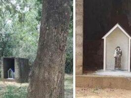 பிள்ளையார் சிலை இருந்த இடத்தில் அந்தோனியார் சிலை